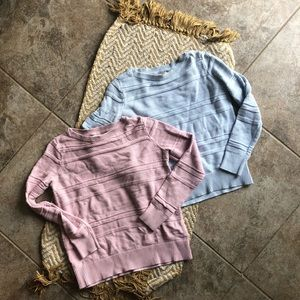 Lot of two LOFT crew neck sweaters size medium